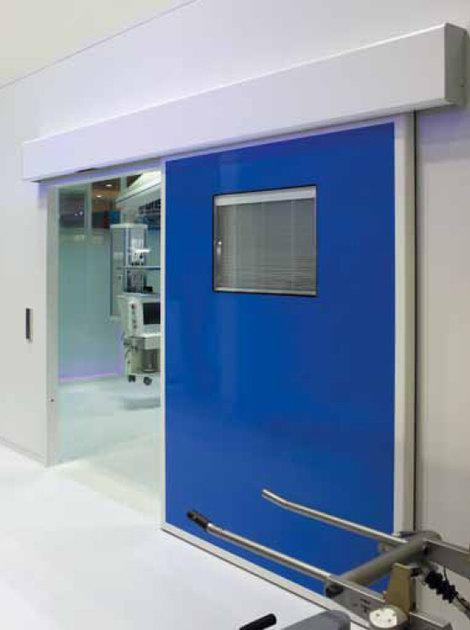 Egyedi színű laminált kórházi ajtó